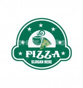Pizza Bistro Burger Street Logo Template