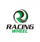 Racing Wheel Logo Template
