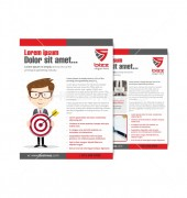 Company Executive with Target Board Business Flyer Front & Back Template