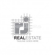 RJ Letter Real Estate Logo Template