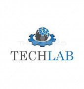 Tech Lab Abstract Medical Solution Logo Template