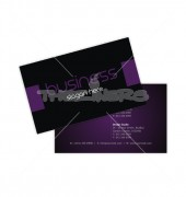 Simple Purple Color Front Back Business Card Template