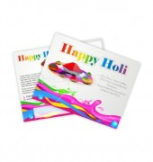 Colorful Holi Postcard Template