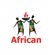 African Food Restaurant Logo Template