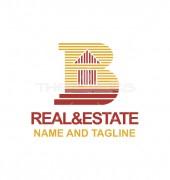 B Letter Building Logo Template