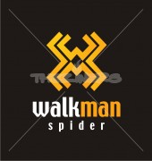Walkman Spider Letter Elite Logo Template