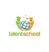 Kids Education Elegant College Logo Template
