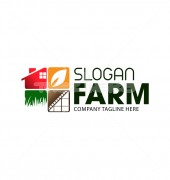 Farm Company Production Logo Template