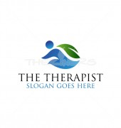 The Therapist Healthcare logo Template