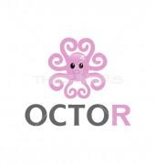Aquatic Octopus Logo Design