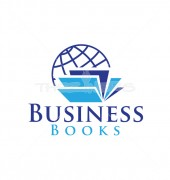 Book Business Global Education Logo Template