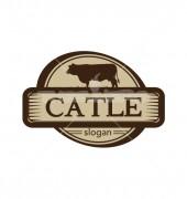 Cow Farm Company Creative Logo Template