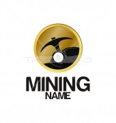 Mining Name Creation Logo Template