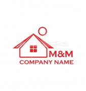 O Letter M&M Home Logo Template