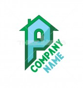 P Letter Home Logo Template