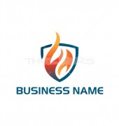 Fire Shield Elegant Security Logo Template