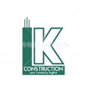 IK Construction Logo Template