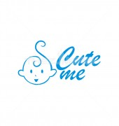 Cute Baby Childcare Logo Design