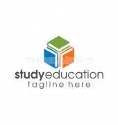 Study Education Books Logo Template
