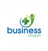 Green Medical Elegant Healthcare Solutions Logo Design