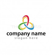 Abstract Loop Triangle Logo Template