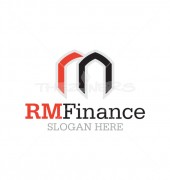 RM Letter, RN, M Letter, Logo Design for Financial Advisory