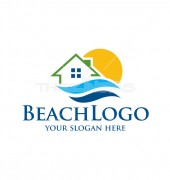 Beach Home Property solutions Logo Template