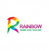 R Letter Colourful Logo Template