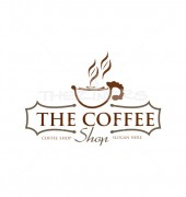 Coffee Company Burger Street Logo Template