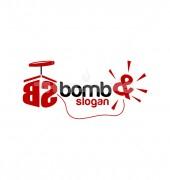 Bomb Mines Blast Logo Template