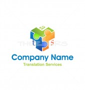 3D Puzzle Logo for Translation Services