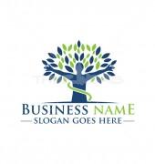 Yoga Leaf Medical logo Template