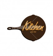 Excellent Kitchens Food & Bar Logo Template