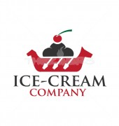Ice Cream Store Healthy Drinks Logo Template