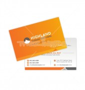 Feel Better with Orange Background Double-Sided Business Card Template