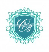 C Letter Scripture - Shield Logo Template