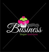 Cup Cake Delicious Food Shop Logo Template