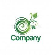 O Letter Spiral Flower Logo Template