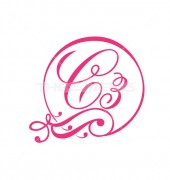 C Letter Scripture Logo Template