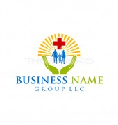 Family Medical Creative Health Care Logo Template