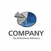 3D Pie Graph, Logo for Business Advisory & Process