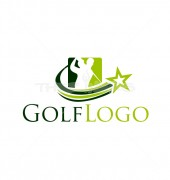 Global Golf Abstract Logo Outline