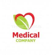 Vector Heart Leaf Health Logo Template