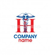 HH Letter Science Logo Template