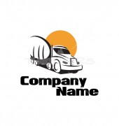 Material Truck Logo Template