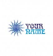 Sun Style Flower Logo Template