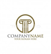 O Letter Pillar Logo Template for Finance Group