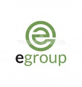 E Group Typography Logo Template