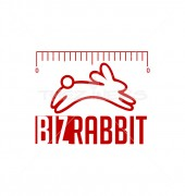 Jumping Rabbit Logo Template