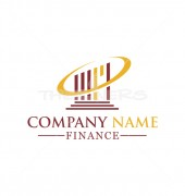 Vector Pillar & Oval Logo Template for Finance Group